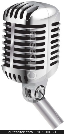 microphone stock vector clipart,  by STAR ILLUSTRATION