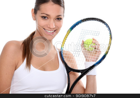 Woman playing tennis stock photo, Woman playing tennis by photography33