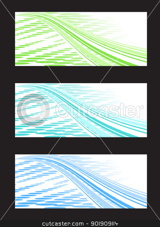 Abstract Background Banner in Three Color Combination stock vector clipart, Set of abstract banners in three different colors by Ludek Vodicka