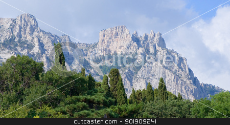 Crimea mountain. stock photo, Ay Petri mountain. by Oleksiy Fedorov