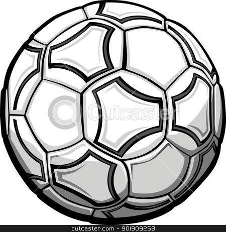 Soccer Ball Graphic Vector Illustration stock vector clipart, Graphic Vector Illustration of a Soccer Ball by chromaco