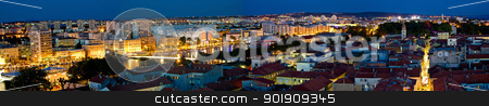 City of Zadar aerial panorama stock photo, City of Zadar aerial panorama, Dalmatia, Croatia by xbrchx