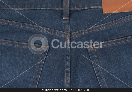 Close-up blue jean back  stock photo, Close-up blue jean back showing pocket design by pixs4u