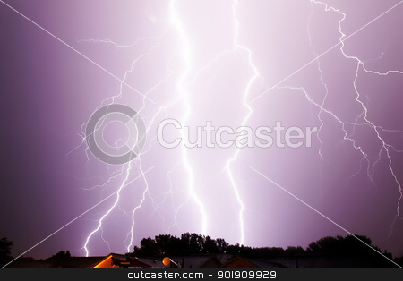 multiple lightning stirkes flash thunder storm stock photo, lightning strike sky thunder storm flash by pasphotogaphy