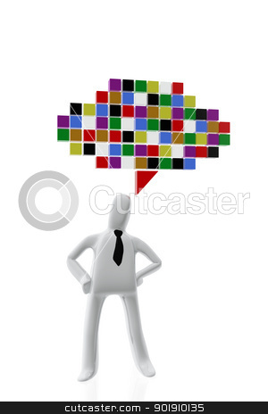 Executive and Communication symbol stock photo, Executive and Communication symbol by genialbaron
