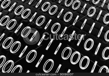 Abstract composition with binary code stock photo, Abstract composition with binary code by genialbaron