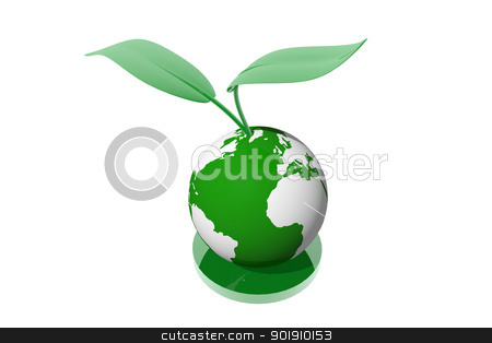 Ecological planet symbol stock photo, Ecological planet symbol by genialbaron