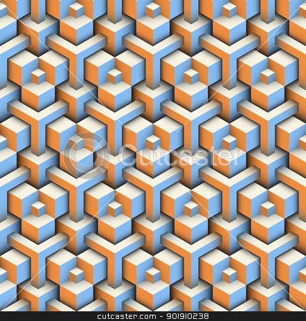 Seamless texture pattern stock vector clipart, seamless pattern of blocks by Moenez