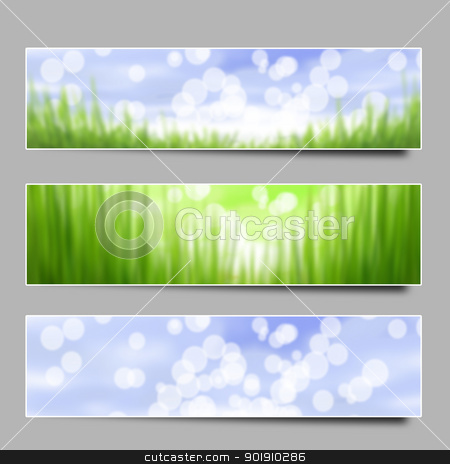 grass and sky stock vector clipart,  by zhal