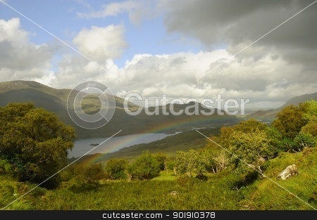 Molly's Gap (Ireland) stock photo, A beautiful scenic view on the lakes of Kerry (Ireland) by Maurizio Martini
