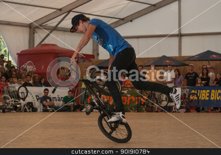Matthias Dandois stock photo, PORTIMAO, PORTUGAL - SEPTEMBER 09: Matthias Dandois during the Flatland Field Control'09 on september 20, 2009 in Portimao, Portugal. by Homydesign
