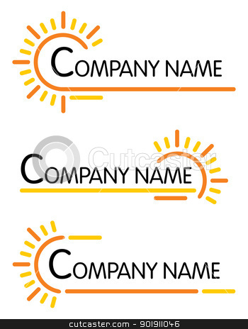 Corporate symbol templates stock vector clipart, Set of three designs for Your company by Oxygen64