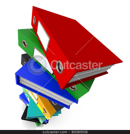Stack Of Files For Getting Organized stock photo, Stack Of Files For Getting Office  Organized by stuartmiles