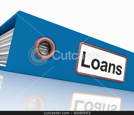 Loans File Contains Borrowing Or Lending Paperwork stock photo, Loans File Containing Borrowing Or Lending Paperwork by stuartmiles