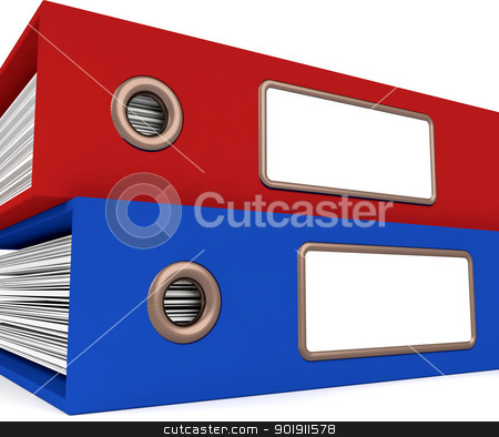 Stack Of Two Files For Getting Organized stock photo, Stack Of Two Files For Getting Office Organized by stuartmiles