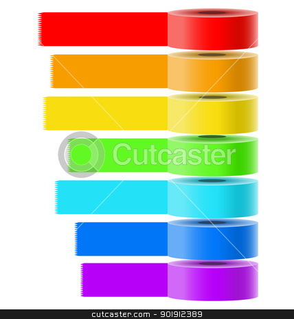 Selfadhesive tapes vector collection stock vector clipart, Vector collection of bright colored selfadhesive tapes for multipurpose use in creative designers tasks by Vladimir Repka