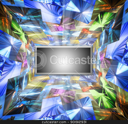 HD Television stock photo, High Definition television concept photo by szefei
