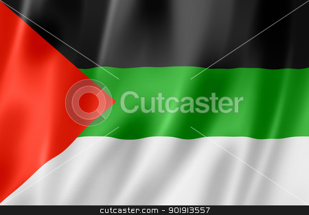 Arabic langage flag stock photo, Arabic langage flag, three dimensional render, satin texture by Laurent Davoust
