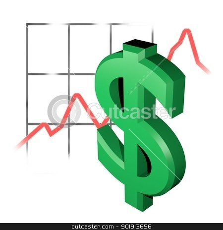 3d dollar rating stock photo, an 3d symbol of an dollar rating by Tobias Arhelger