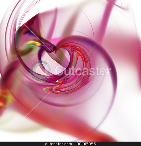 Fractal stock photo, Abstract fractal on black background with vibrant colors. by Henrik Lehnerer