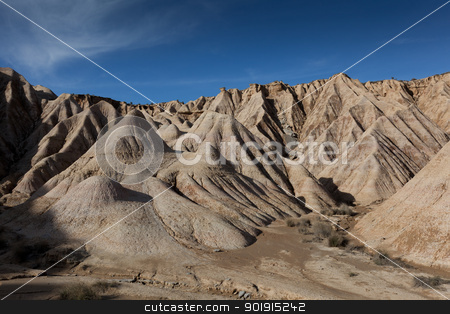 Landscape of Bardenas reales, Navarra, Spain stock photo, Landscape of Bardenas reales, Navarra, Spain by B.F.
