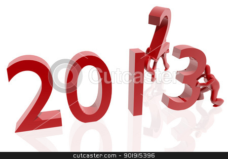 Change 2012 to 2013 stock photo, Change 2012 to 2013 by genialbaron