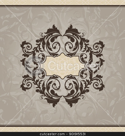 Revival ornamental card or invitation stock vector clipart, Illustration revival ornamental card or invitation - vector by -=Mad Dog=-