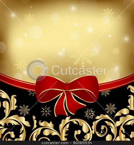 Christmas holiday ornamental decoration for design packing stock vector clipart, Illustration Christmas holiday ornamental decoration for design packing - vector by -=Mad Dog=-