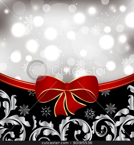Christmas floral background, ornamental design elements stock vector clipart, Illustration Christmas floral background, ornamental design elements - vector by -=Mad Dog=-