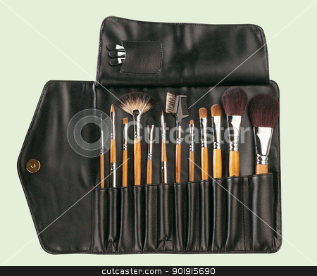 make up brushes stock photo, full range of the make up brush by eskaylim