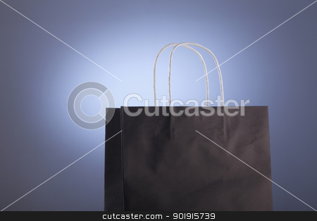 paper bag stock photo, close up of the paper shopping bag by eskaylim