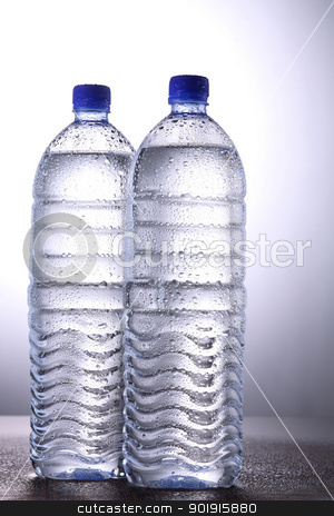 water bottles stock photo, two mineral bottles of the water by eskaylim