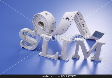 slim concept stock photo, slim word and the measuring tape by eskaylim