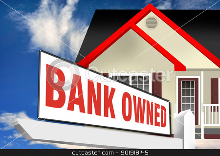 bank Owned Foreclosure. stock photo,  by WScott