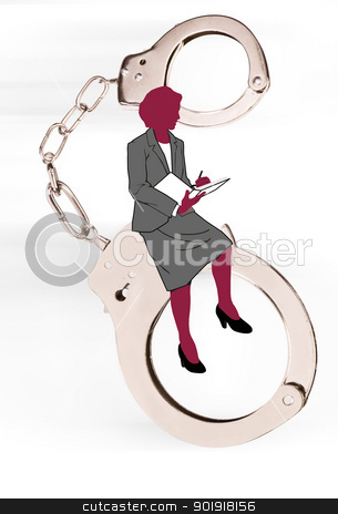 Woman and the Law. stock photo,  by WScott