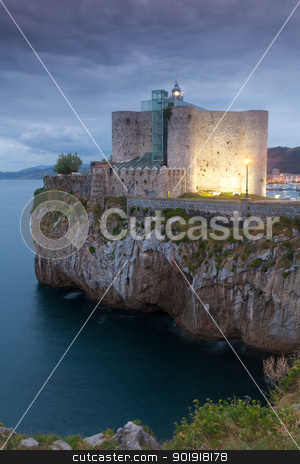 Lighthouse of Castro Urdiales, Cantabria, Spain stock photo, Lighthouse of Castro Urdiales, Cantabria, Spain by B.F.