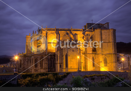 Church of Castro Urdiales, Cantabria, Spain stock photo, Church of Castro Urdiales, Cantabria, Spain by B.F.