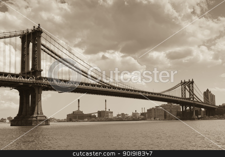 Manhattan bridge, New York, USA stock photo, Manhattan bridge, New York, USA by B.F.