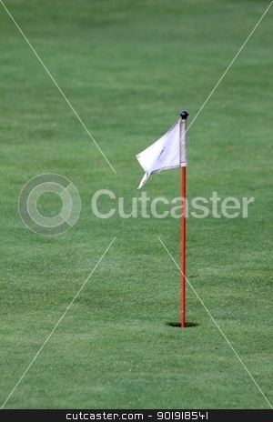 golf flag stock photo, golf flag by Tobias Arhelger