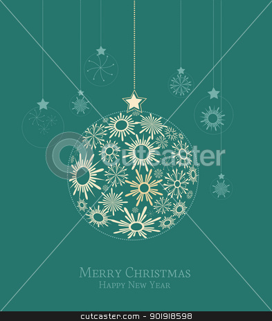 Christmas background stock vector clipart, Christmas balls made from snowflakes  illustration by Miroslava Hlavacova