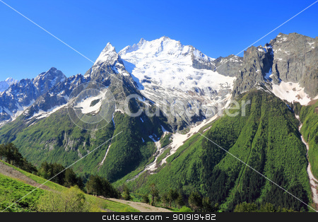 Caucasus mountains Dombai stock photo, Image of beautiful landscape with Caucasus mountains by Julialine