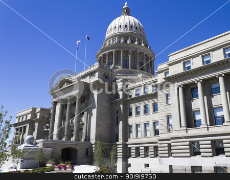 Capital building in boise idaho stock photo, A profile view of the capital building in boise idaho by txking
