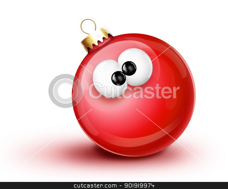 Whimsical Cartoon Christmas Ball Ornament stock photo, Whimsical Cartoon Christmas Ball Ornament by Bill Fleming