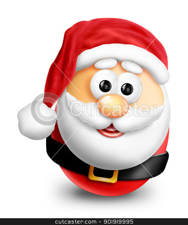 Whimsical Cartoon Christmas Egg Santa stock photo, Whimsical Cartoon Christmas Egg Santa by Bill Fleming