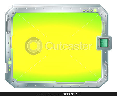 Futuristic screen or sign border frame stock vector clipart, Illustration of a futuristic screen or sign border frame by Christos Georghiou