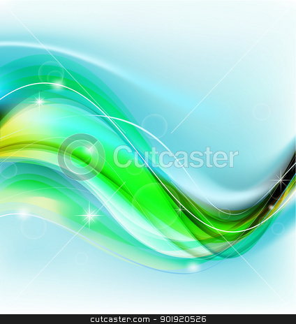 Abstract vector background stock photo, Abstract vector background with various lines and, bokeh and star elements by Vladimir Repka