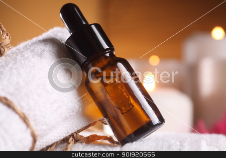 aroma oil stock photo, clocse of the bottle of the aroma oil by eskaylim