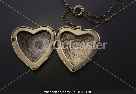 heart shape stock photo, heart shape of the necklace by eskaylim