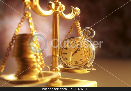 time and money stock photo, Balancing Time and Money by eskaylim