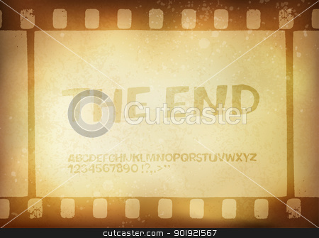 Old filmstrip. Movie ending frame.  Vector illustration, EPS10 stock vector clipart, Old filmstrip. Movie ending frame.  Vector illustration, EPS10 by pashabo